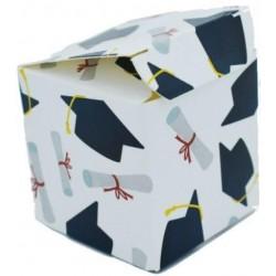 Scatolina Portaconfetti a forma di cubo Tema Laurea