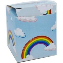 Scatolina Portaconfetti a forma di Cubo Unicorno