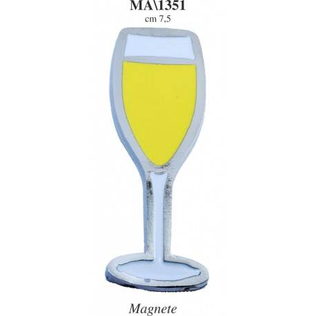 Magnete calice champagne