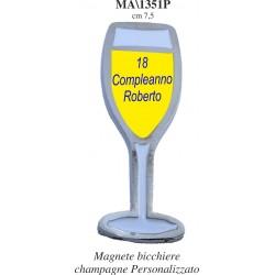 Magnete calice champagne personalizzato