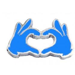 Magnete mani a cuore celeste